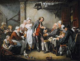 The Village Agreement, 1761 von Jean-Baptiste Greuze | Gemälde-Reproduktion