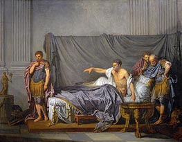The Emperor Severus Rebuking his Son, Caracalla, for Wanting to Assassinate Him, 1769 von Jean-Baptiste Greuze | Gemälde-Reproduktion