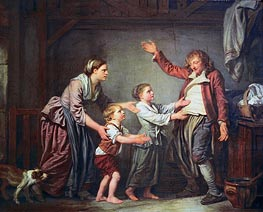 The Drunken Cobbler, c.1780/85 by Jean-Baptiste Greuze | Painting Reproduction