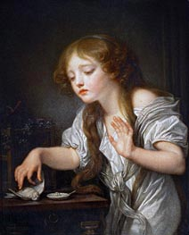 The Dead Bird, c.1800 by Jean-Baptiste Greuze | Painting Reproduction