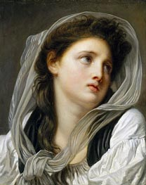 Head of a Young Woman (Contemplation) | Jean-Baptiste Greuze | Gemälde Reproduktion