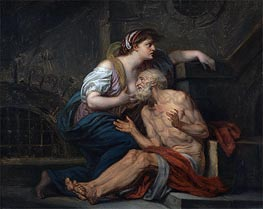 Cimon and Pero (Roman Charity), c.1767 by Jean-Baptiste Greuze | Painting Reproduction