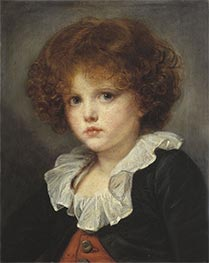 Little Boy in a Red Vest, c.1775 by Jean-Baptiste Greuze | Painting Reproduction