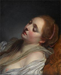 The Dreamer, c.1765/69 by Jean-Baptiste Greuze | Painting Reproduction