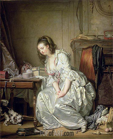 The Broken Mirror, c.1762/63 | Jean-Baptiste Greuze | Painting Reproduction
