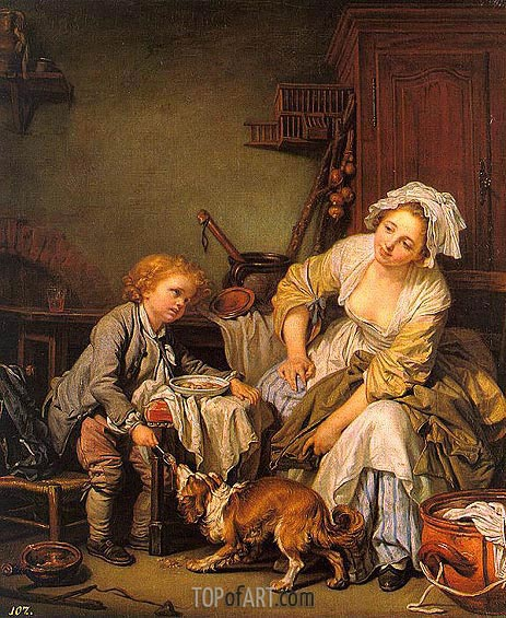 The Spoiled Child, c.1760/65 | Jean-Baptiste Greuze | Painting Reproduction