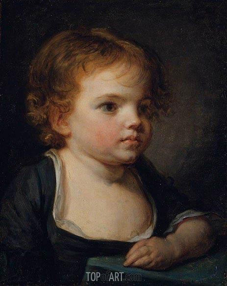 Portrait of a Child, undated | Jean-Baptiste Greuze | Painting Reproduction