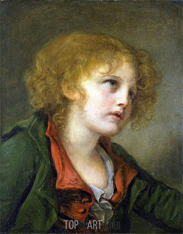 Portrait of a Young Boy, undated | Jean-Baptiste Greuze | Painting Reproduction