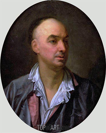 Portrait of Denis Diderot, undated | Jean-Baptiste Greuze | Painting Reproduction