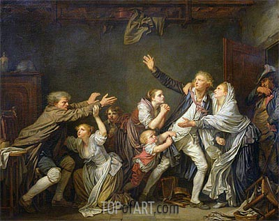 The Paternal Curse or The Ungrateful Son, 1777 | Jean-Baptiste Greuze | Painting Reproduction
