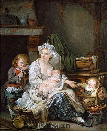 Silence!, 1759 | Jean-Baptiste Greuze | Painting Reproduction
