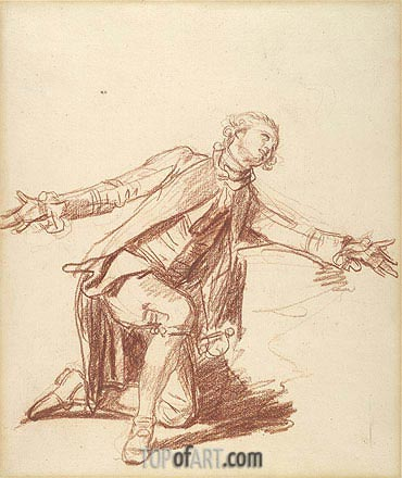 A Kneeling Youth with Outstreched Hand, undated | Jean-Baptiste Greuze | Gemälde Reproduktion