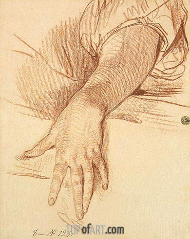 Study of a Female Arm Dropped Down, 1765 | Jean-Baptiste Greuze | Painting Reproduction