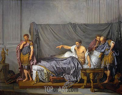 The Emperor Severus Rebuking his Son, Caracalla, for Wanting to Assassinate Him, 1769 | Jean-Baptiste Greuze | Painting Reproduction