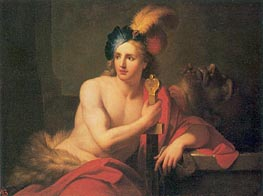 David with Goliath's Head, undated von Jean-Baptiste Nattier | Gemälde-Reproduktion