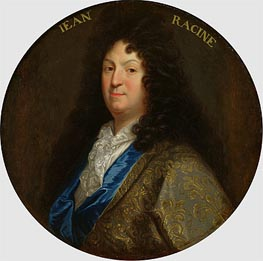 Portrait of Jean Racine, Undated by Jean-Baptiste Santerre | Painting Reproduction