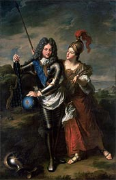 Philippe II d'Orleans the Regent of France and Madame de Parabere as Minerva | Jean-Baptiste Santerre | Painting Reproduction