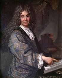 Nicolas Boileau, undated by Jean-Baptiste Santerre | Painting Reproduction