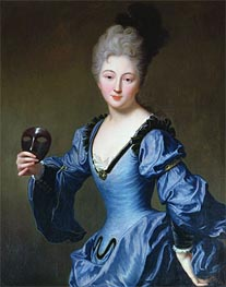 La Comtesse de Bersac, undated by Jean-Baptiste Santerre | Painting Reproduction
