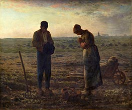 The Angelus, c.1857/59 by Millet | Painting Reproduction