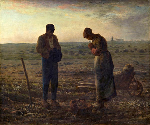 The Angelus, c.1857/59 | Millet | Gemälde Reproduktion