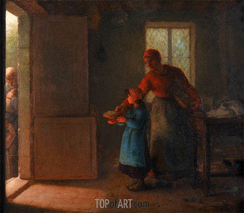 The Charity, c.1858/59 | Millet | Painting Reproduction