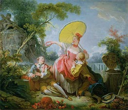 The Musical Contest, c.1754 von Fragonard | Gemälde-Reproduktion