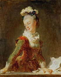 Marie-Madeleine Guimard, Dancer | Fragonard | Painting Reproduction
