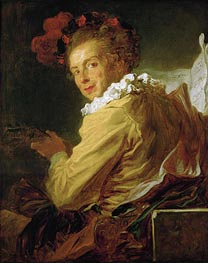 Man Playing an Instrument (The Music), 1769 von Fragonard | Gemälde-Reproduktion