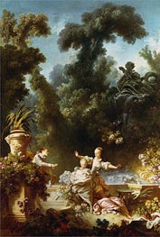 The Pursuit, c.1771/73 by Fragonard | Painting Reproduction