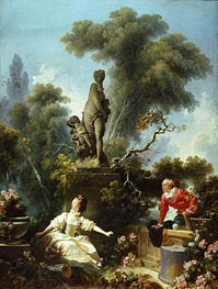 The Meeting, c.1771/73 von Fragonard | Gemälde-Reproduktion