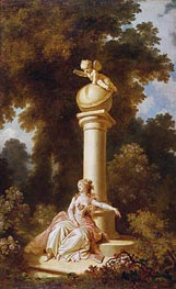 Reverie, c.1771/73 by Fragonard | Painting Reproduction