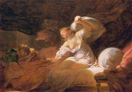 The Useless Resistance (La Resistance Inutile), c.1770 by Fragonard | Painting Reproduction