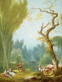 A Game of Horse and Rider, c.1767/73 by Fragonard | Painting Reproduction