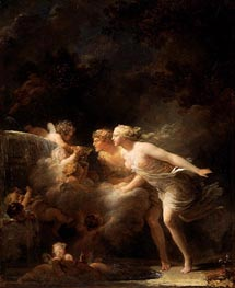 The Fountain of Love, c.1785 von Fragonard | Gemälde-Reproduktion
