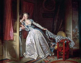 The Stolen Kiss, c.1785/90 von Fragonard | Gemälde-Reproduktion