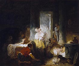 Italian Interior | Fragonard | Painting Reproduction