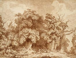 A Gathering at Woods' Edge, c.1761/73 von Fragonard | Gemälde-Reproduktion