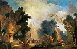 The Fete at Saint-Cloud, undated by Fragonard | Painting Reproduction