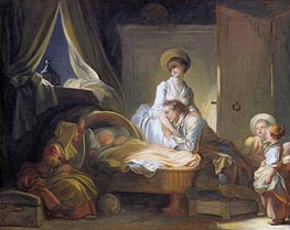 The Visit to the Nursery | Fragonard | Painting Reproduction