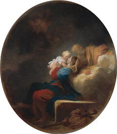 Rest on the Flight | Fragonard | Gemälde Reproduktion