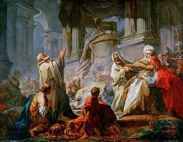 Jeroboam Sacrificing to the Golden Calf | Fragonard | Painting Reproduction