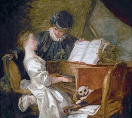 The Music Lesson | Fragonard | Painting Reproduction