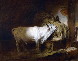 The White Bull in the Stable | Fragonard | Gemälde Reproduktion