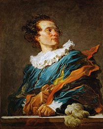 Figure of Fantasy: Portrait of the Abbot of Saint-Non | Fragonard | Painting Reproduction