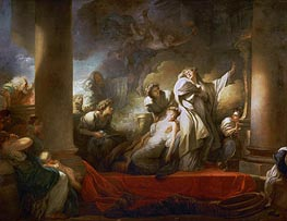 The Grand Priest Coresus Sacrifices Himself to Save Callirhoe | Fragonard | Painting Reproduction
