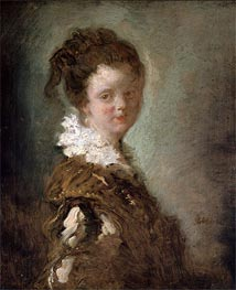 Young Woman, c.1769 by Fragonard | Painting Reproduction
