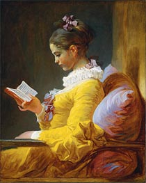 Young Girl Reading | Fragonard | Gemälde Reproduktion