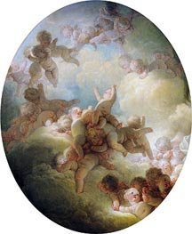 The Swarm of Cupids | Fragonard | Painting Reproduction
