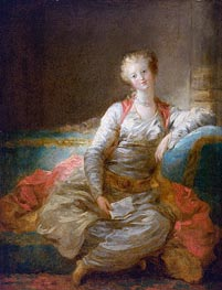 Sultana on an Ottoman, c.1772/76 by Fragonard | Painting Reproduction